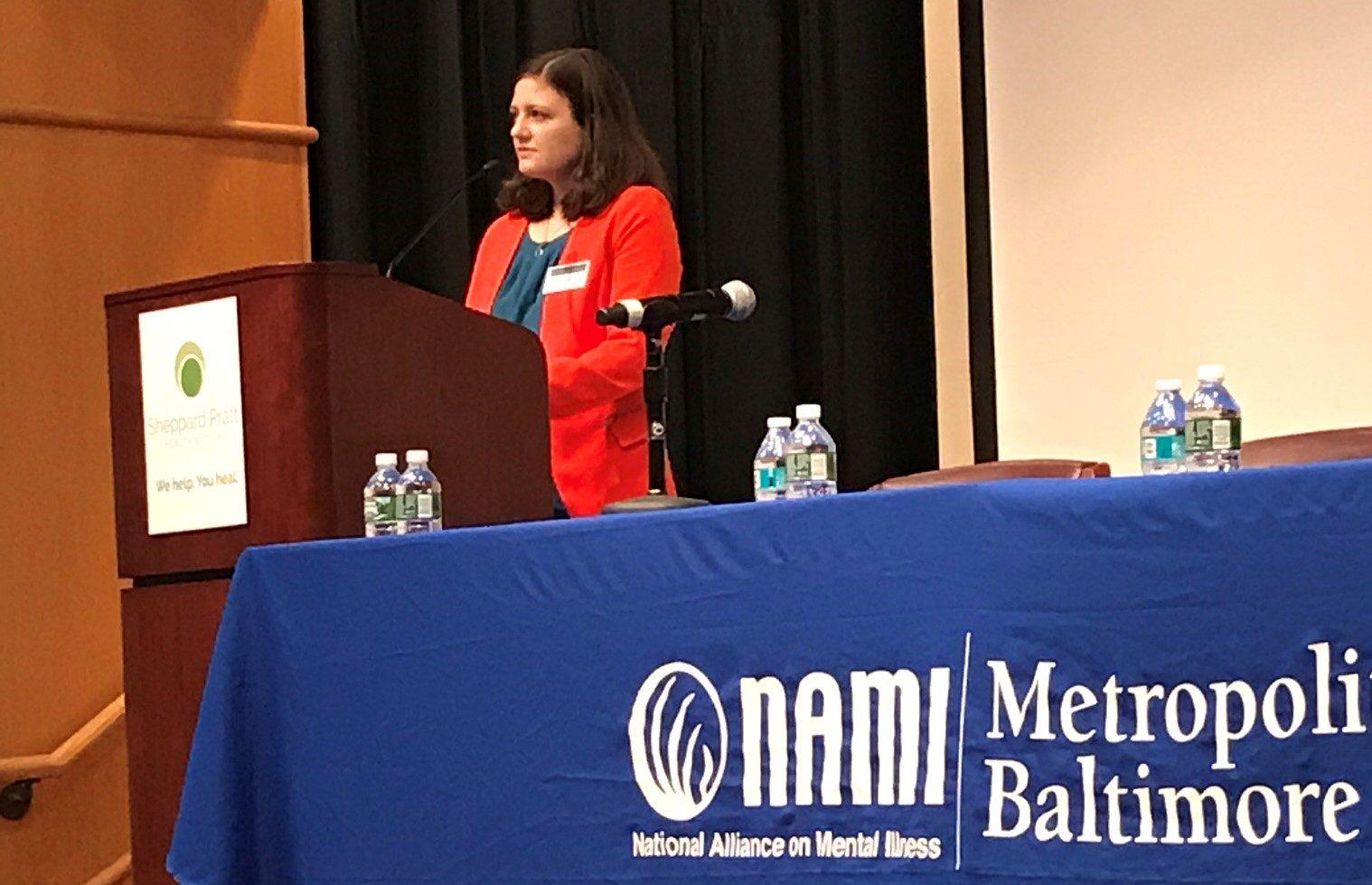 Amy Greensfelder at NAMI Metro Baltimore